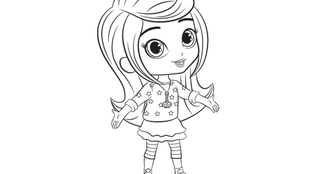 Shimmer and Shine: Leah Colouring Page