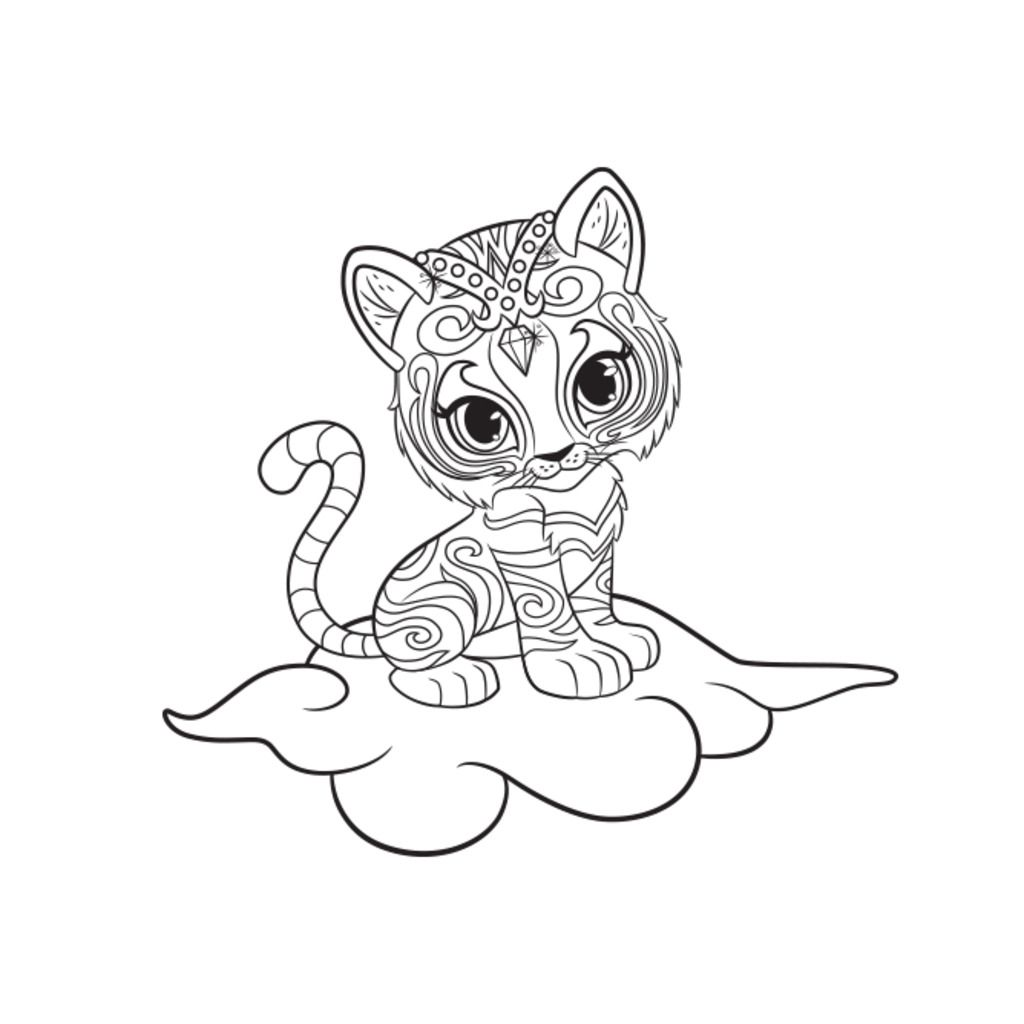 Coloring pages uk - Shimmer And Shine Nahal Colouring Page Nick Jr Uk