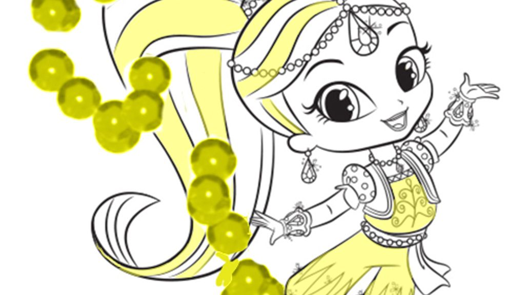 Shimmer And Shine Shimmer Colouring Page