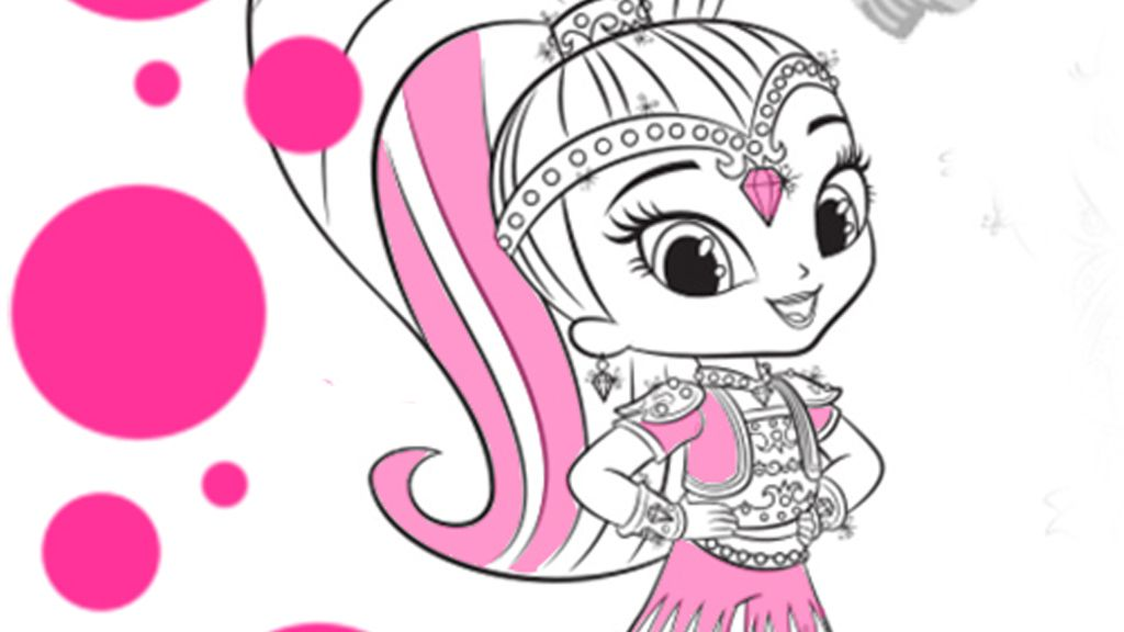 Shimmer And Shine Shine Colouring Page