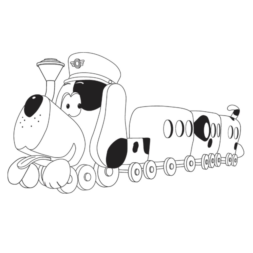 Tickety toc pufferty from tickety toc colouring pages for Tickety Tock Printables Tommy and Tallulah Coloring Pages Yo Gabba Gabba! Coloring Pages