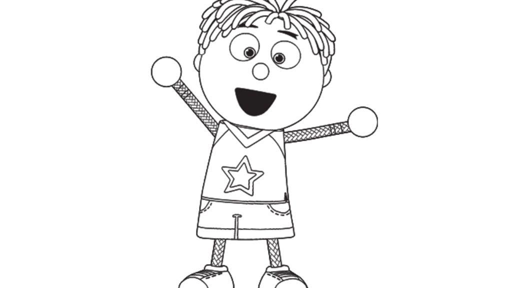 Tickety Toc Tommy From Tickety Toc Colouring Pages For