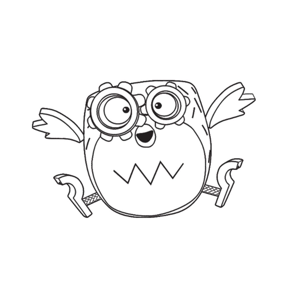 Tickety toc tooteroo from tickety toc colouring pages for Bubble Guppies Coloring Pages Ticket Coloring Page Tickety Toc Cow