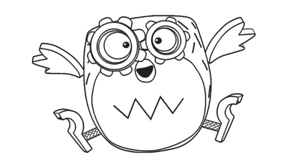 Tickety Toc Tooteroo from Tickety Toc Colouring Pages for