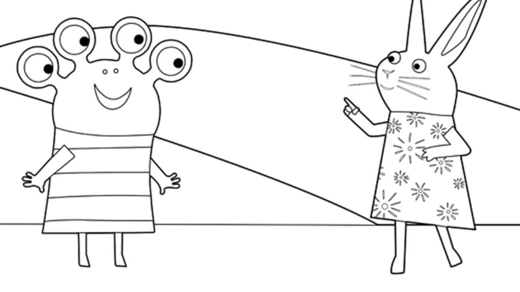 Wanda And the alien|Wanda and the Alien: Colouring Pages