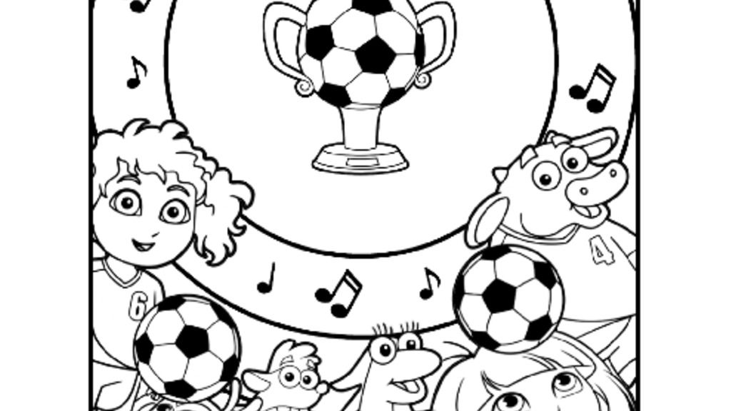 Dora The Explorer Dora Football Colouring Pack Colouring