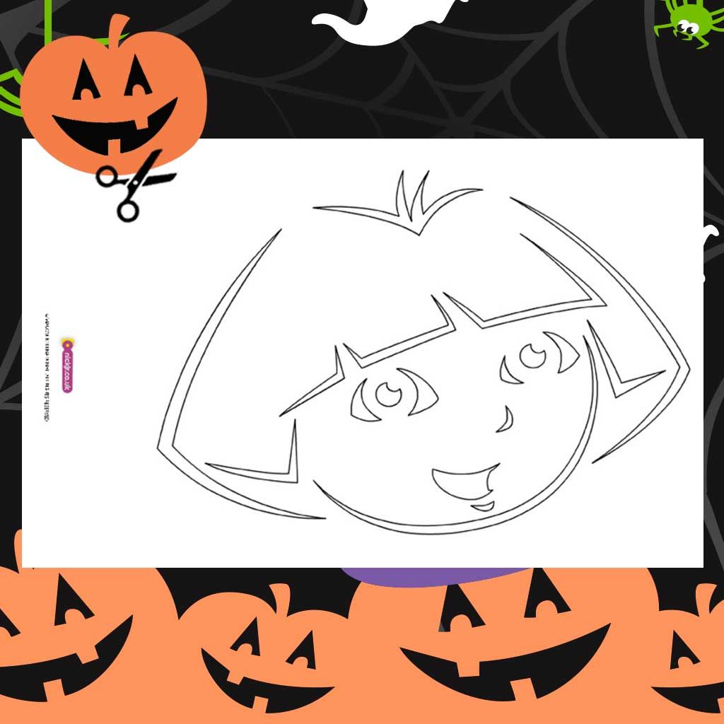 picture relating to Printable Halloween Stencils called Dora: Halloween Printable Pumpkin Stencil