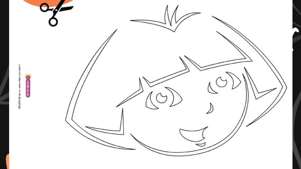 Dora: Halloween Printable Pumpkin Stencil