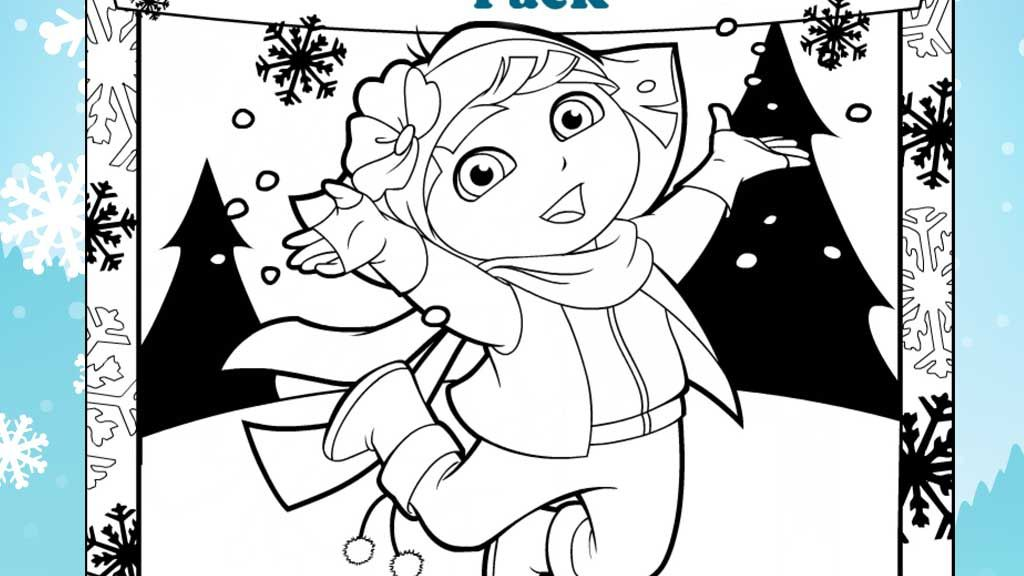 teenage dora coloring pages - photo#49