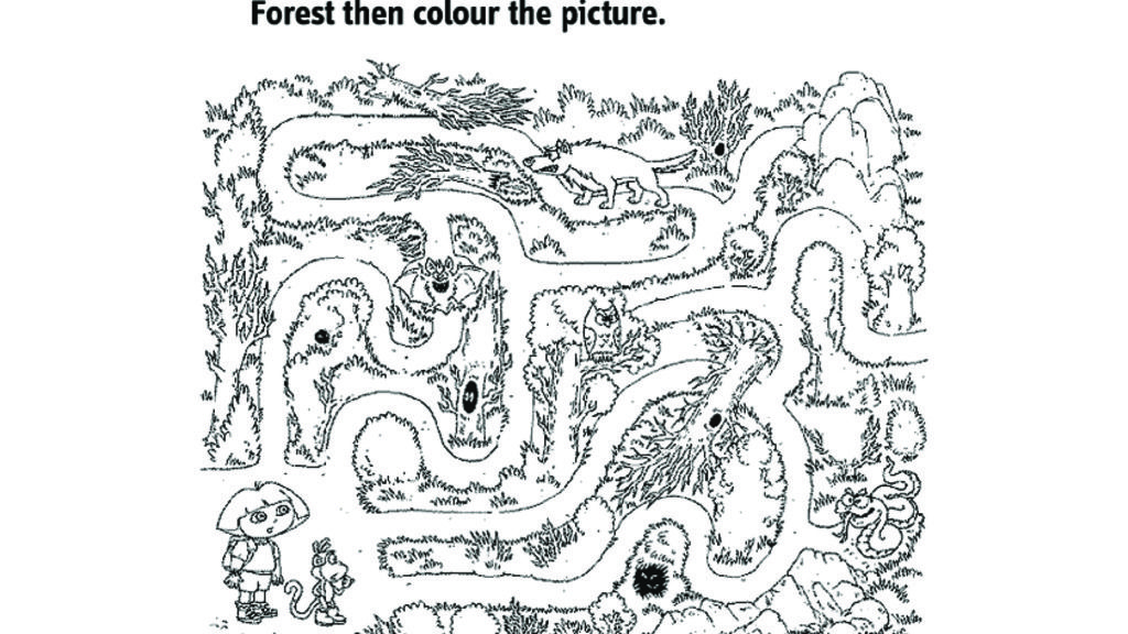 Dora The Explorer Dora maze Colouring