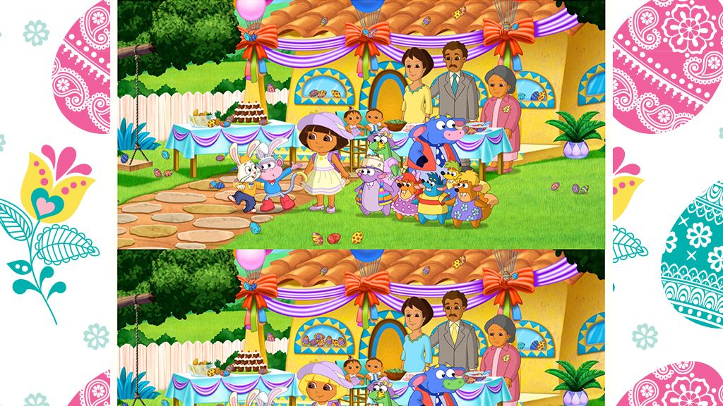 Dora Easter Spot The Difference