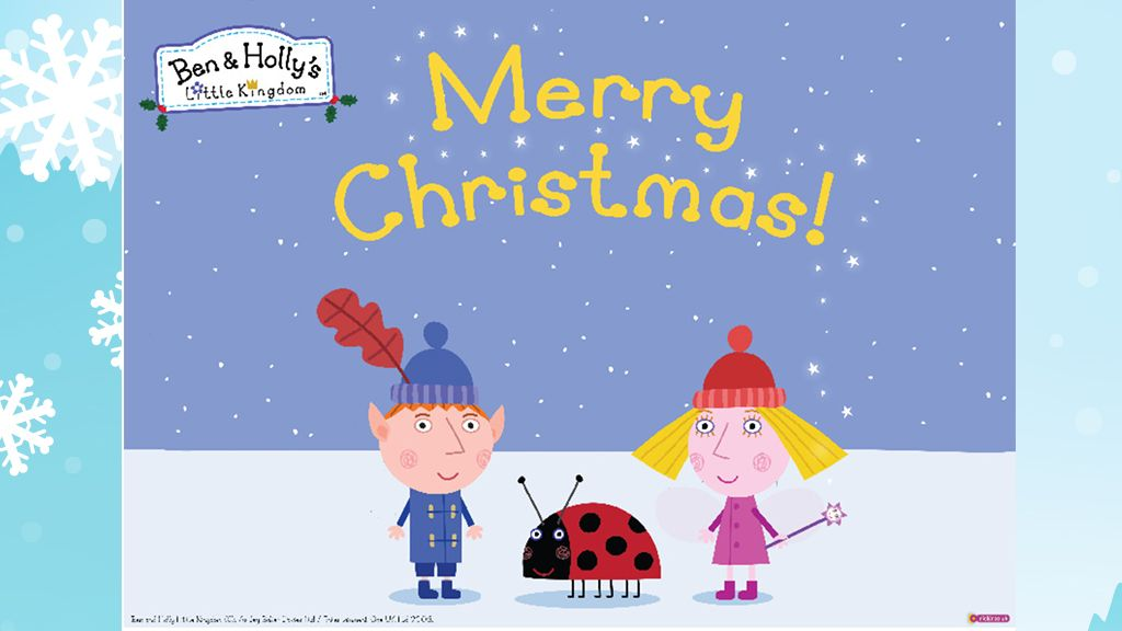 little kingdomben hollys christmas poster colouring pages for preschoolers - Ben And Holly Christmas
