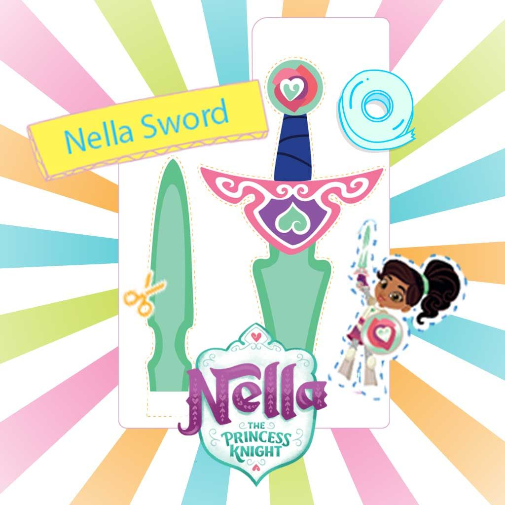 graphic relating to Sword Template Printable called Nella: Printable Sword Template