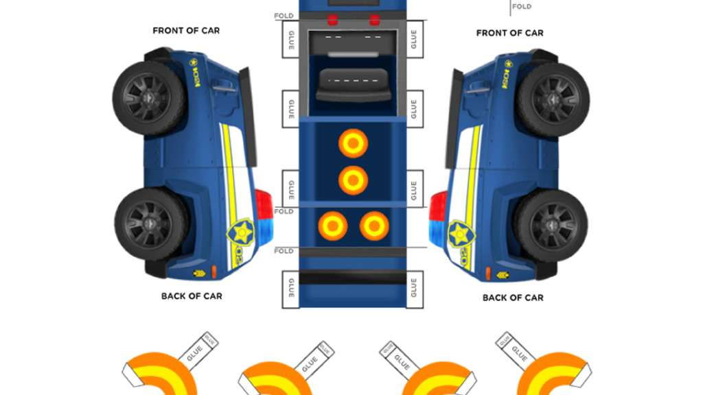 Chase s vehicle colouring pages for preschoolers nick jr uk