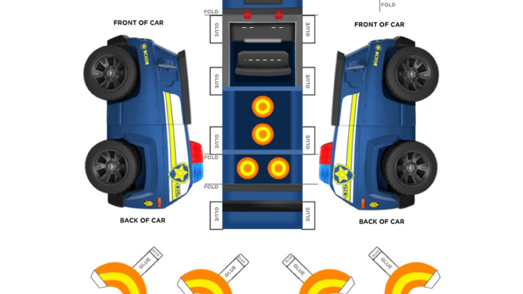 PAW Patrol Chases Vehicle – Printable Car Template