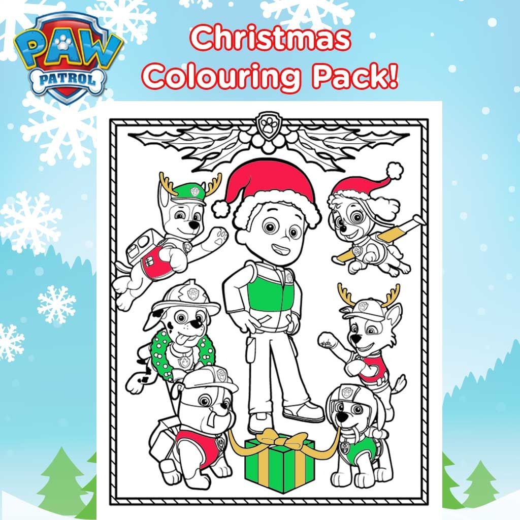 - PAW Patrol: Paw Patrol Christmas Colouring Sheets