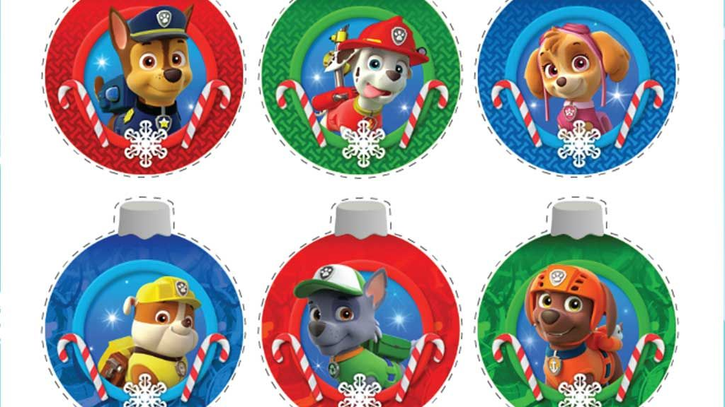 paw patrol paw patrol christmas ornaments - Paw Patrol Christmas Decorations