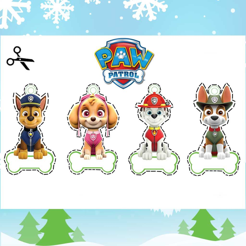photo regarding Paw Patrol Printable Decorations identified as PAW Patrol: Xmas Tree Decorations