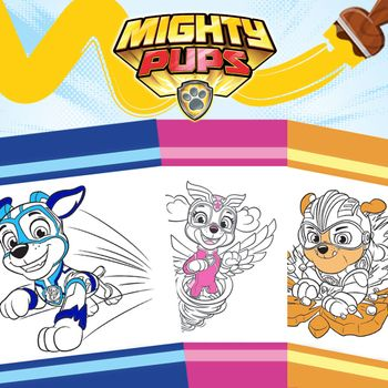 PAW Patrol: Mighty Pups Colouring Pack