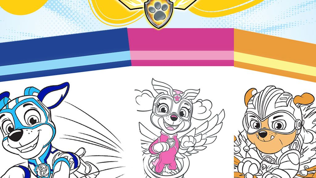 Paw Patrol Mighty Pups Colouring Pack