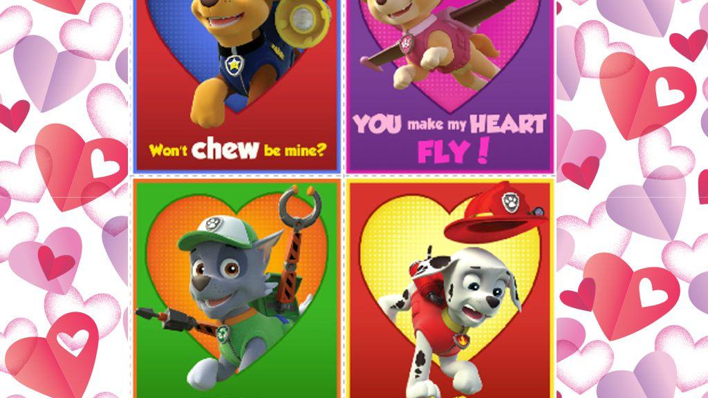 Paw Patrol Valentine S Cards