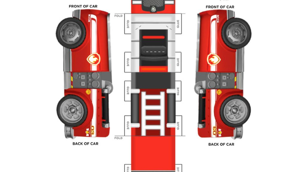 PAW Patrol Marshalls Vehicle – Printable Car Template