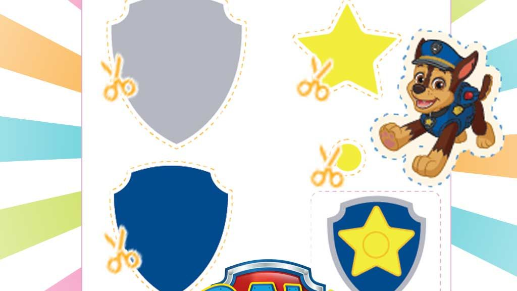 Paw Patrol Printable Badge Necklaces Template Pack