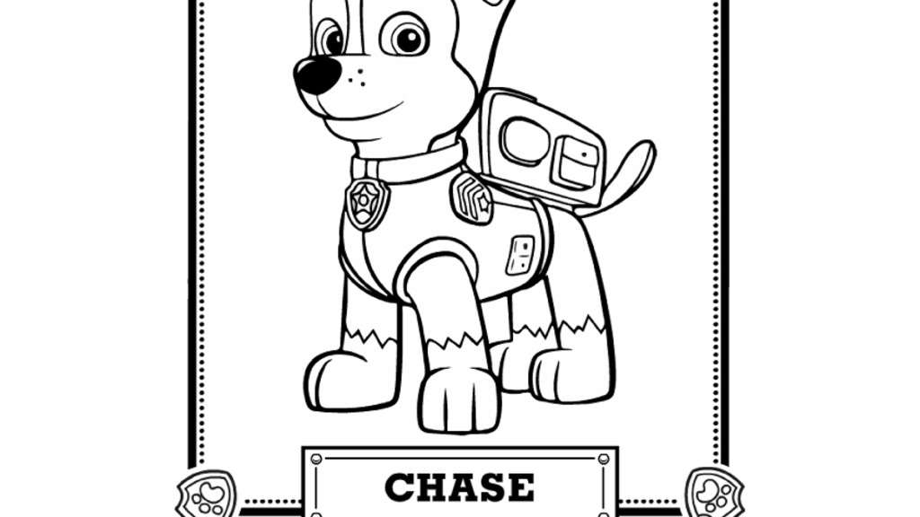 Chase Paw Patrol Coloring Page