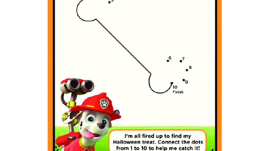 PAW Patrol - Connect The Dots: Colouring Pages
