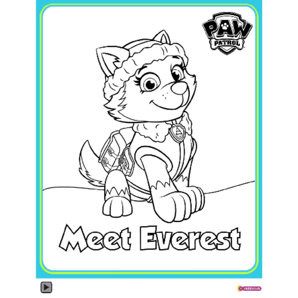 PAW PatrolPAW Patrol Meet Everest Colouring Pack Colouring Pages