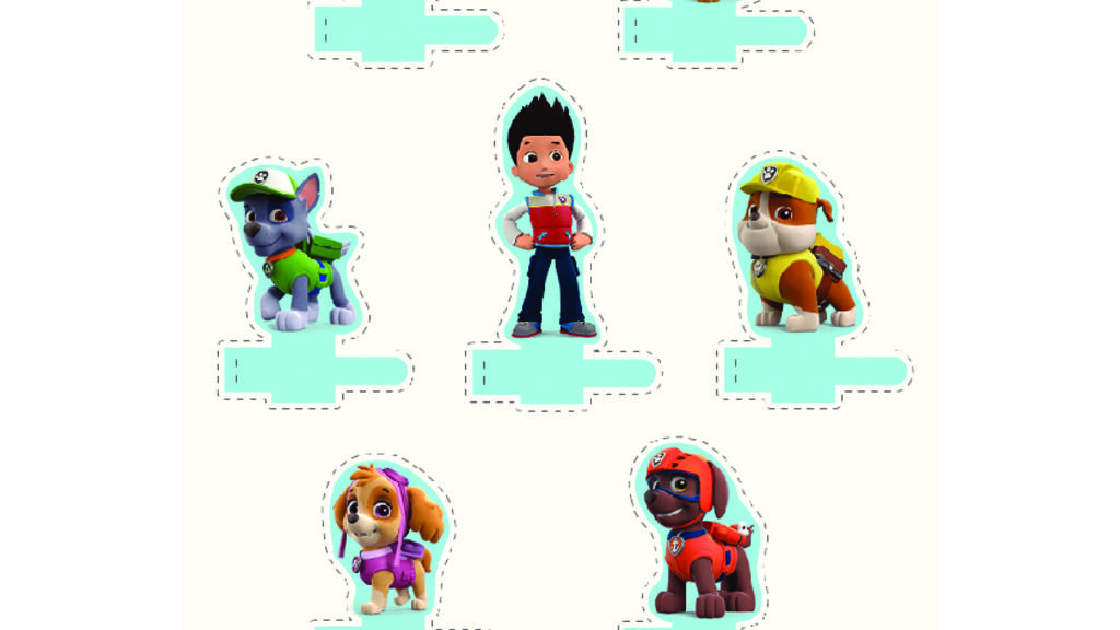 how to make paw patrol puppets