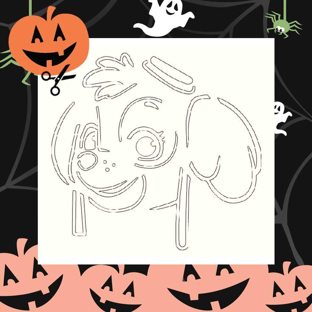 graphic relating to Printable Halloween Stencils identify PAW Patrol: Skye Printable Pumpkin Stencil