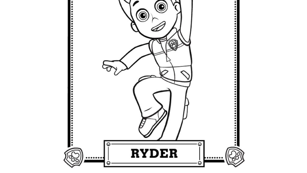 Paw Patrol Paw Patrol Meet Ryder Colouring Pages For Preschoolers