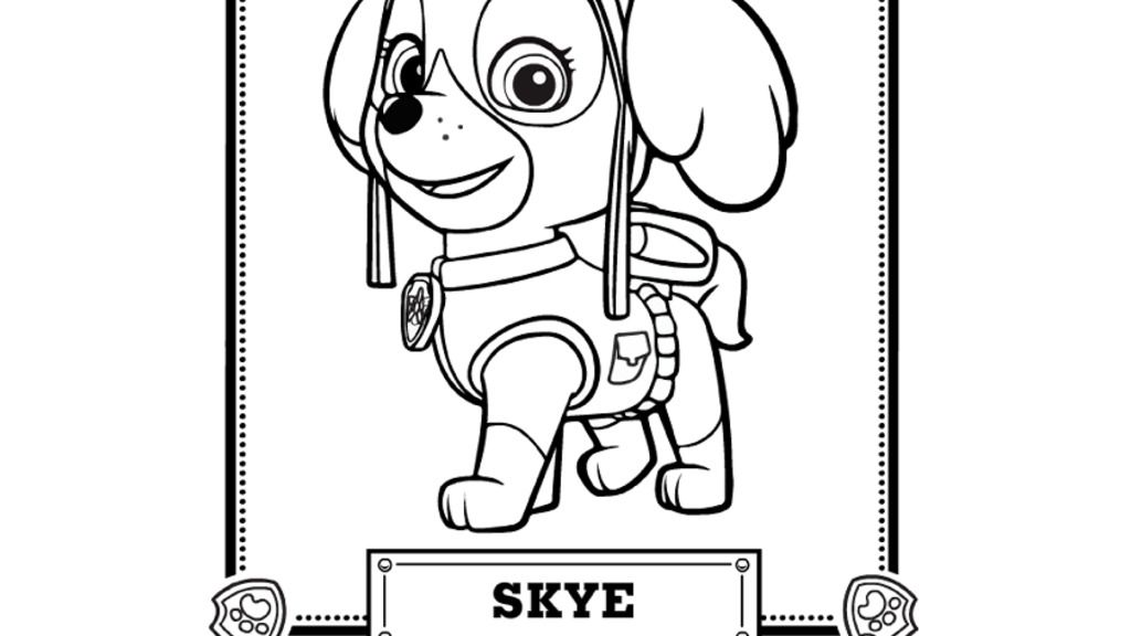 Paw Patrol Paw Patrol Meet Skye Colouring Pages For