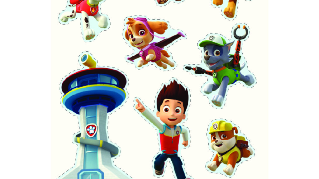 Paw Patrol Paw Patrol Stickers Colouring Pages For