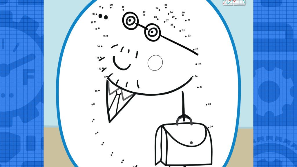 Peppa Pig: Daddy Pig At Work Printable Dot To Dot
