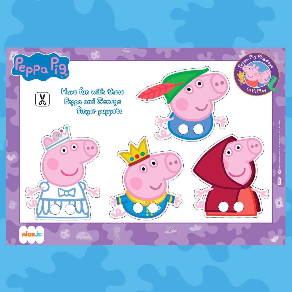 image regarding Printable Finger Puppets titled Peppa Pig: Printable Finger Puppets
