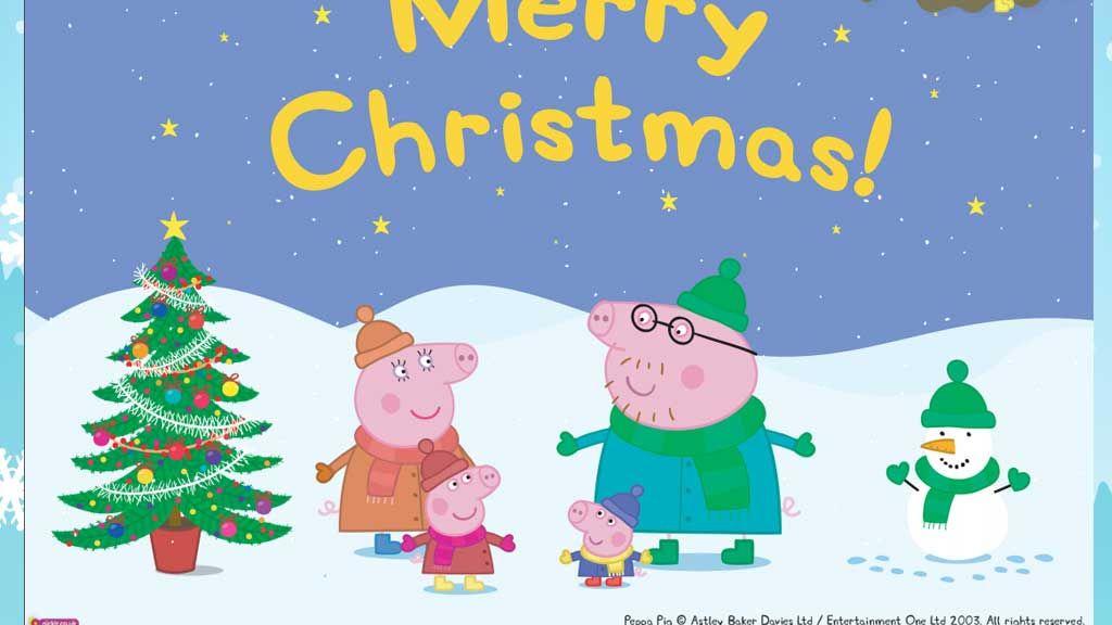 peppa pig peppa pig christmas poster