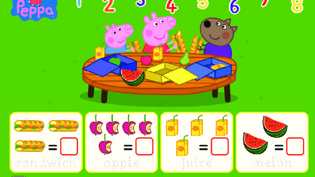 Peppa Pig Peppa Pig Lunchbox Counting Sheet Colouring