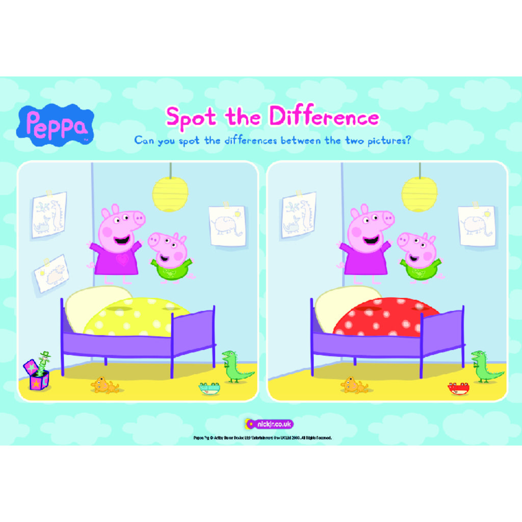 Structural Differences Between RNA and DNA coloring page Find differences between two pictures for kids