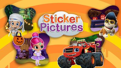 Halloween Sticker Fun Game