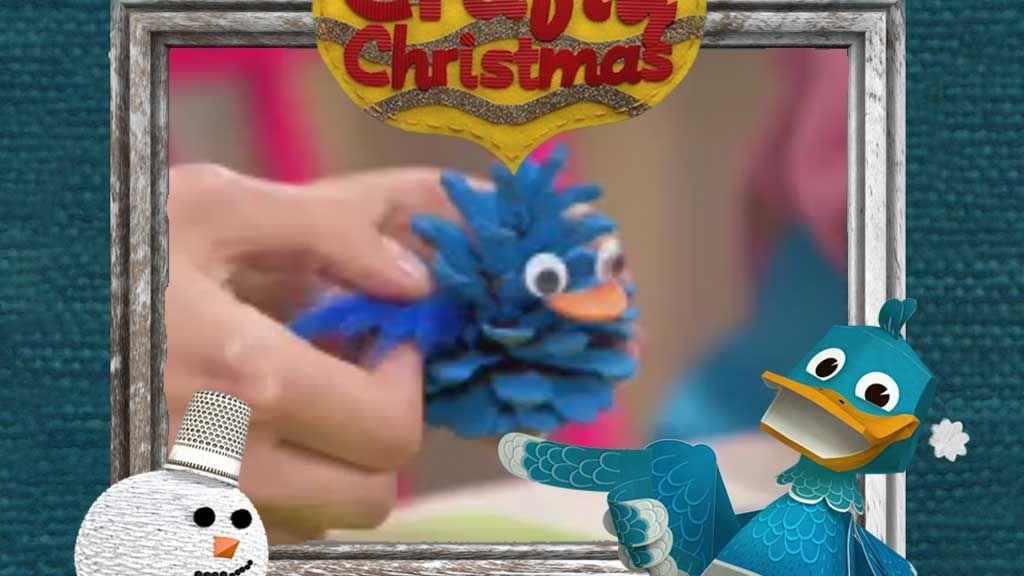 Crafty Christmas Quack Pine Cone Decoration