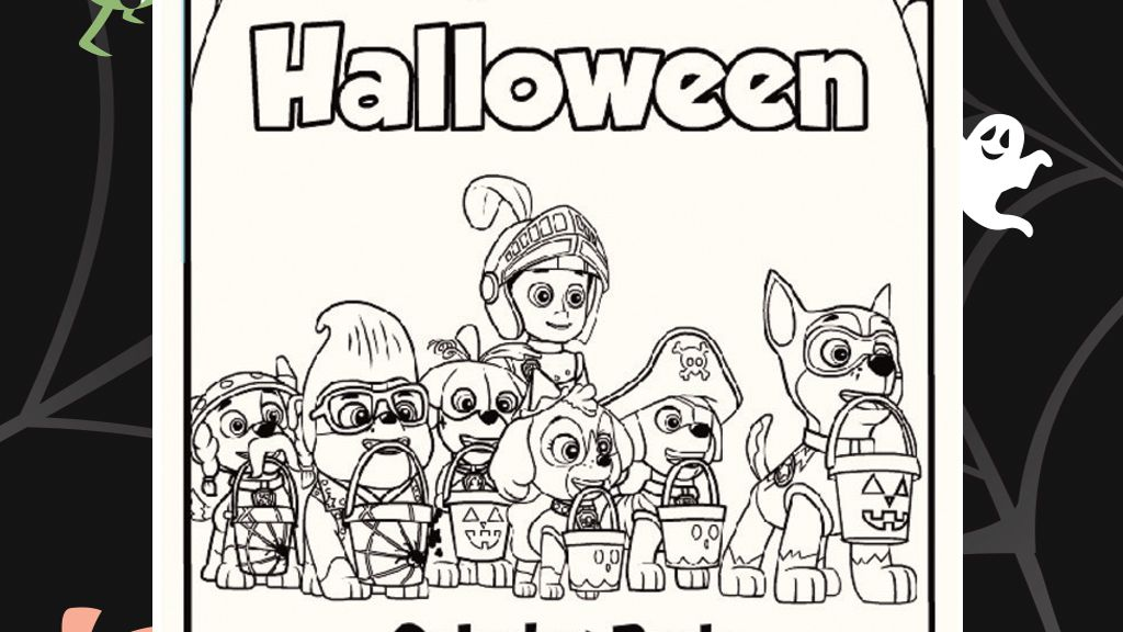 Paw Patrol Halloween Colouring Pack Coloring Pages Paw Patrol