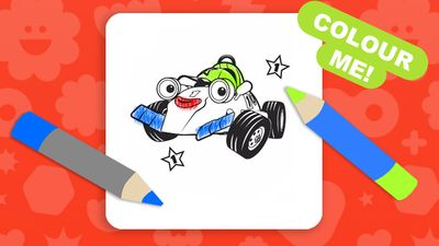 Roary The Racing Car Colouring Sheet 4 Roary The