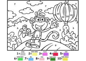 Preferenza Colora seguendo i numeri: disegna con Dora l'esploratrice su Nick Jr. QM89