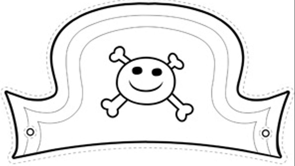 Il cappello da pirata disegna con dora l 39 esploratrice su for Cappello disegno da colorare