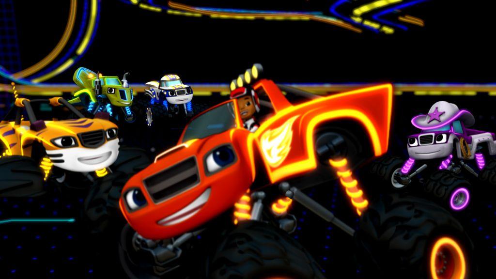 Blaze And The Monster Machines Luzes De Corrida Do Blaze Videos