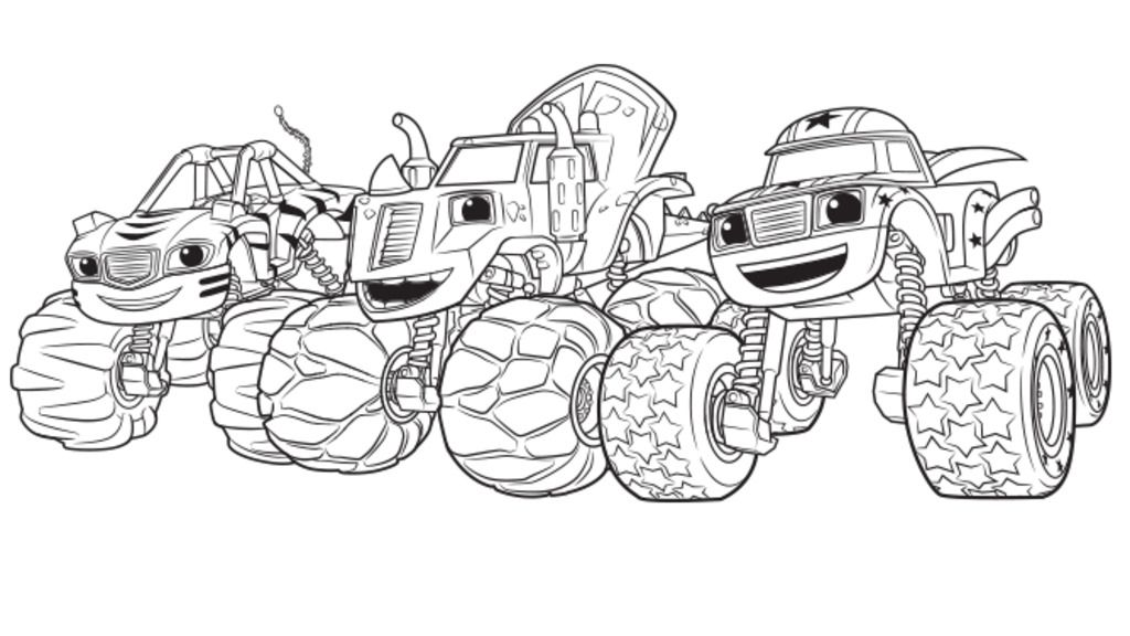 Nick Jr Blaze Monster Truck Coloring Page Coloring Pages