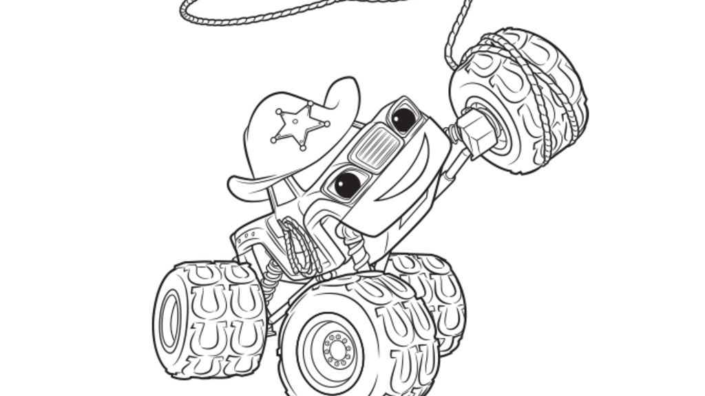 Monster machine coloring pages coloring page for Printable blaze coloring pages
