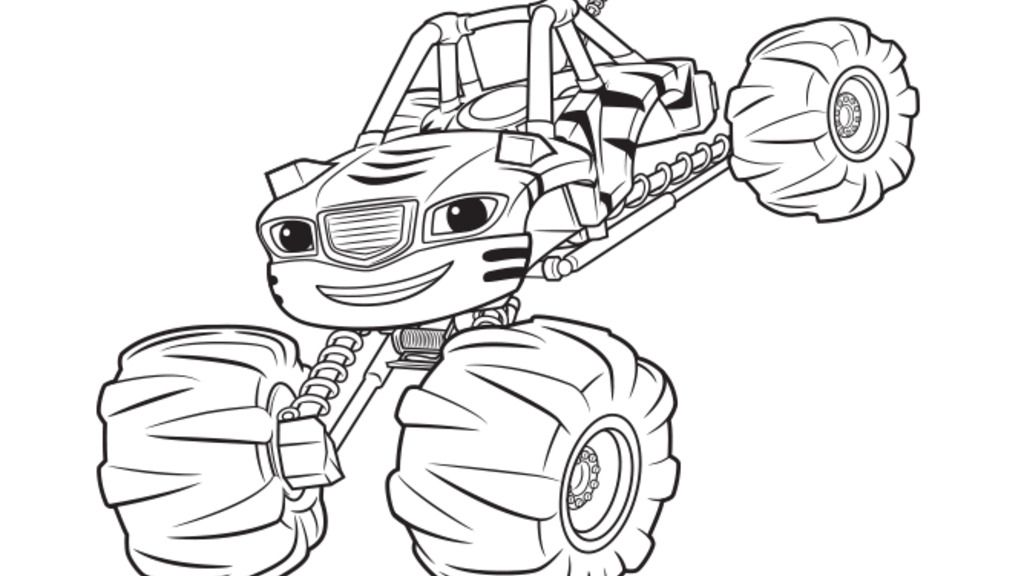 Blaze and the Monster Machines|Stripes: Colouring Pages ...